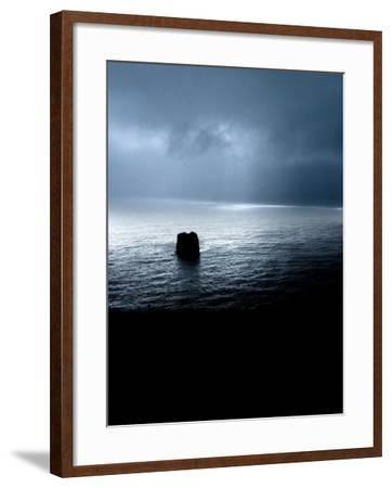 Panoramic View of a Sea, Dyrholaey, Iceland--Framed Photographic Print