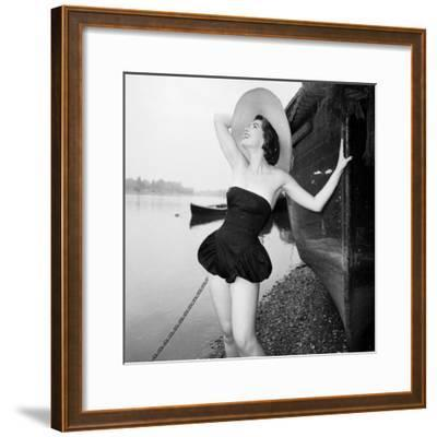 On the Beach-Chaloner Woods-Framed Photographic Print