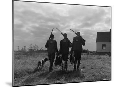 Silhouette Back View of Three Upland Bird Hunters With Shotguns-H^ Armstrong Roberts-Mounted Photographic Print