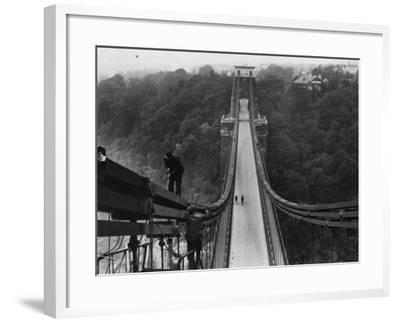 Suspension Bridge--Framed Photographic Print