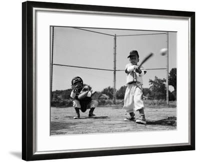 Boys Playing Baseball-H^ Armstrong Roberts-Framed Photographic Print