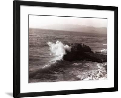 Sea Waves Crashing Against Rock-George Marks-Framed Photographic Print