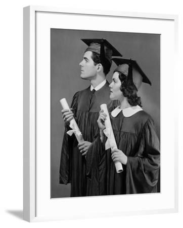 Portrait of High School Graduates-George Marks-Framed Photographic Print