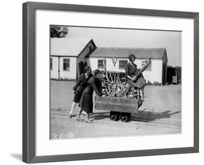 Fireworks in Truck--Framed Photographic Print