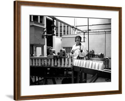 Milk Bottling Plant--Framed Photographic Print