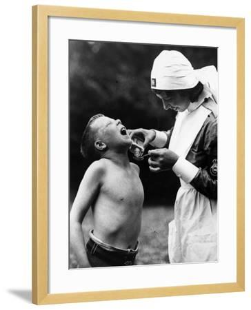 Nurse and Patient--Framed Photographic Print