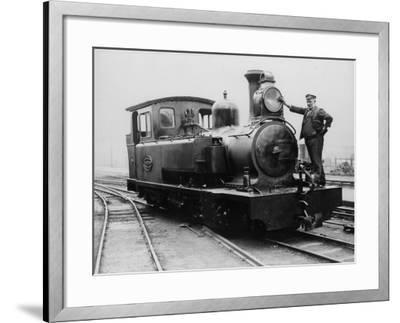 Cleaning the Engine--Framed Photographic Print