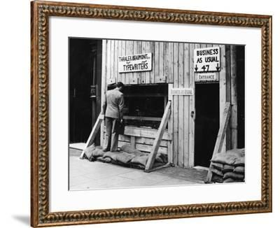 Business As Usual--Framed Photographic Print