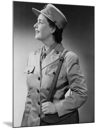 Woman Wearing Military Uniform-George Marks-Mounted Photographic Print