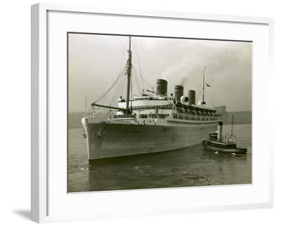 Cruise Ship and Tug Boat-George Marks-Framed Photographic Print
