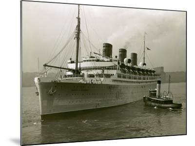 Cruise Ship and Tug Boat-George Marks-Mounted Photographic Print
