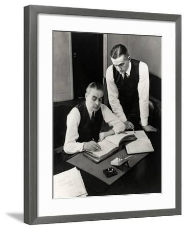 Bookkeepers With Records-George Marks-Framed Photographic Print