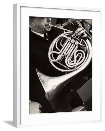 Man Playing French Horn-George Marks-Framed Photographic Print