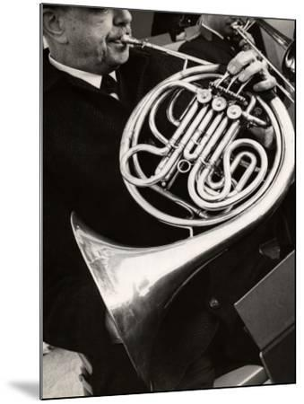 Man Playing French Horn-George Marks-Mounted Photographic Print