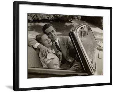Couple in Convertible Car-George Marks-Framed Photographic Print