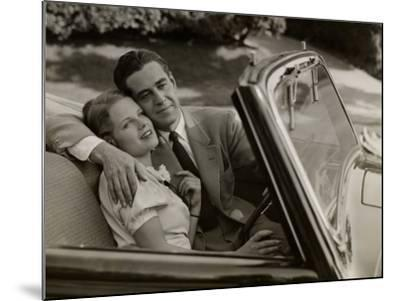 Couple in Convertible Car-George Marks-Mounted Photographic Print