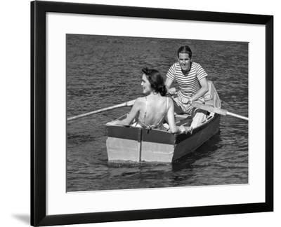 Couple in Row-Boat-George Marks-Framed Photographic Print