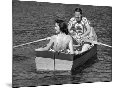 Couple in Row-Boat-George Marks-Mounted Photographic Print
