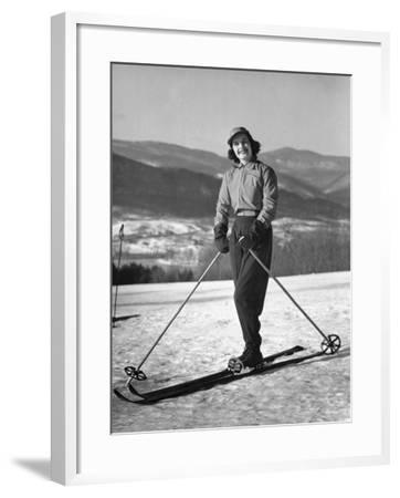 Female Skier-George Marks-Framed Photographic Print
