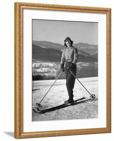 Female Skier-George Marks-Framed Photographic Print