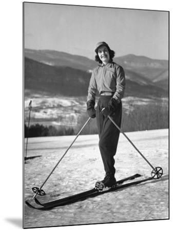 Female Skier-George Marks-Mounted Photographic Print