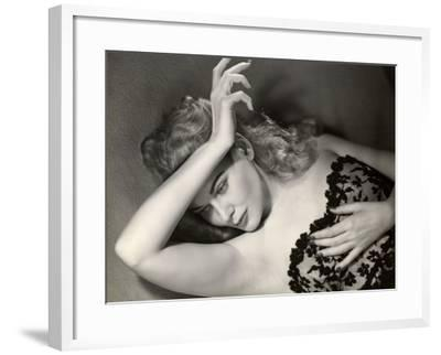 Woman Posing in Lingerie-George Marks-Framed Photographic Print