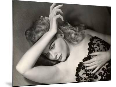 Woman Posing in Lingerie-George Marks-Mounted Photographic Print