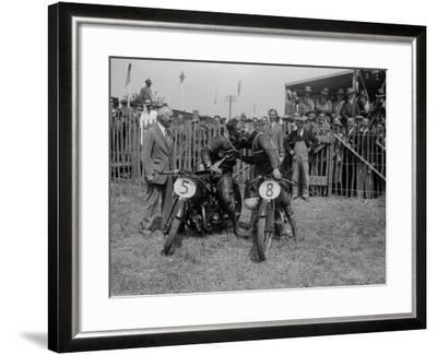 Leather Friends--Framed Photographic Print
