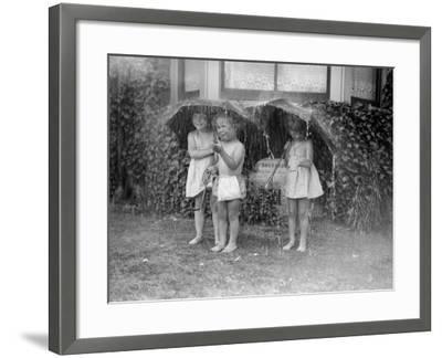 Summer Shower--Framed Photographic Print