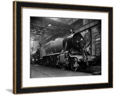 Railway Works--Framed Photographic Print