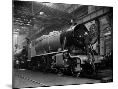 Railway Works--Mounted Photographic Print