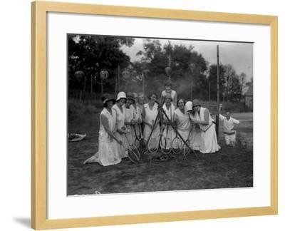 Tennis Ladies--Framed Photographic Print