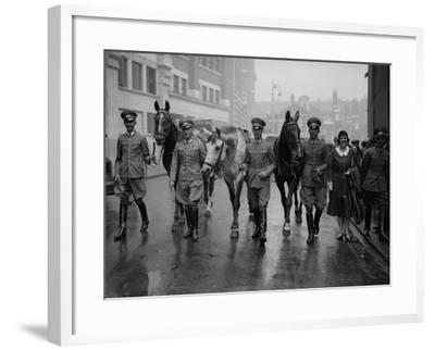 German Riders--Framed Photographic Print