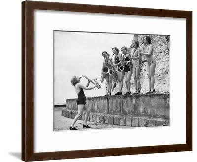 Silver Sax Six--Framed Photographic Print