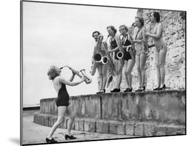 Silver Sax Six--Mounted Photographic Print