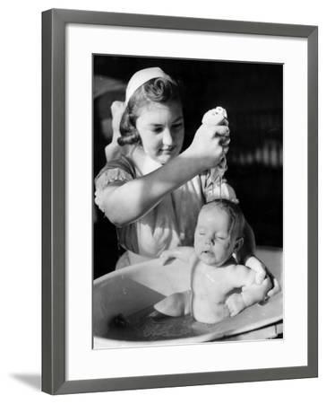 Infant Bather--Framed Photographic Print
