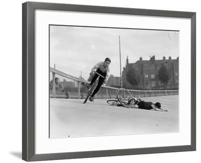 Bike Accident--Framed Photographic Print