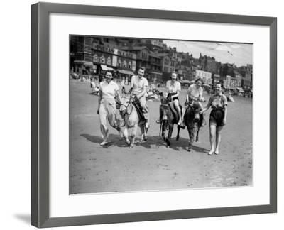 Donkey Derby--Framed Photographic Print