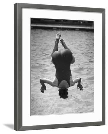 Diving Bather--Framed Photographic Print