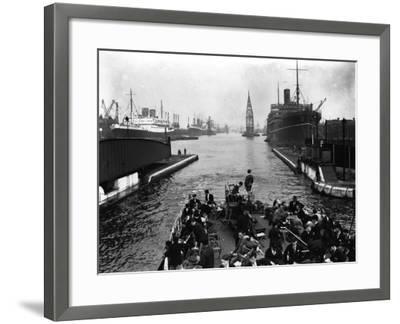 London Docks--Framed Photographic Print