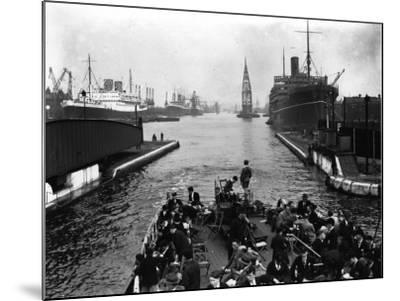 London Docks--Mounted Photographic Print