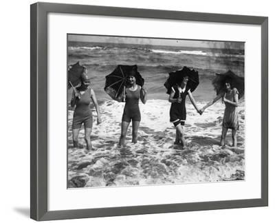 Brolly Waders--Framed Photographic Print