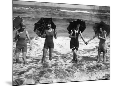 Brolly Waders--Mounted Photographic Print
