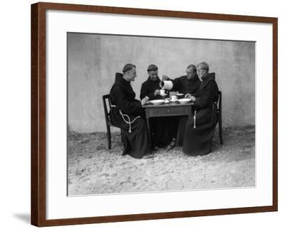Hungry Monks--Framed Photographic Print