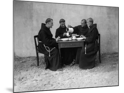 Hungry Monks--Mounted Photographic Print