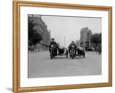 Police Chase--Framed Photographic Print