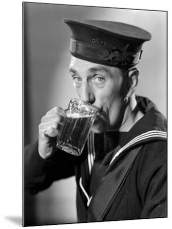 Sailor Drinking Beer--Mounted Photographic Print