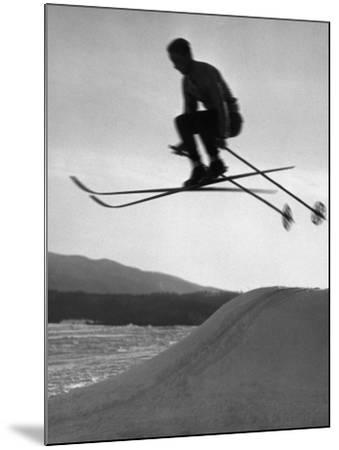 Skier in Mid Air-George Marks-Mounted Photographic Print