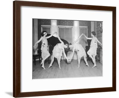 Four Young Women Performing Modern Dance--Framed Photographic Print