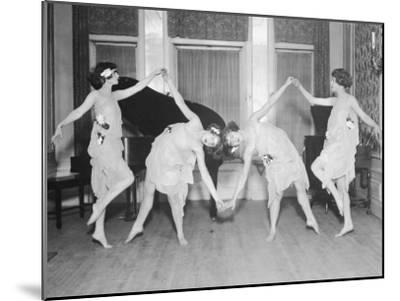 Four Young Women Performing Modern Dance--Mounted Photographic Print